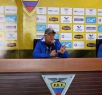 El entrenador de la selección ecuatoriana aseguró que ya habló con los técnicos. Foto: Tomada de @FEFecuador