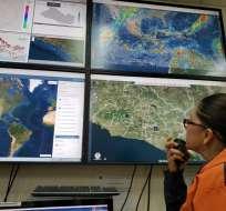 Distintos organismos se mantienen monitoreando permanentemente el territorio. Foto: Protección Civil de El Salvador
