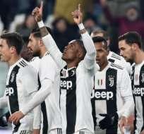 Jugadores de la Juventus, celebrando un gol.