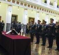 Áñez designó este miércoles a sus primeros 11 ministros, de un total de 20. Foto: AFP