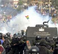 Seguidores de Evo Morales y fuerzas del orden se enfrentaron en Cochabamba. Foto: AFP