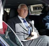 Roger Stone, exasesor de Trump, fue declarado culpable el viernes de mentirle al Congreso. Foto: AFP