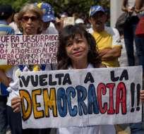 La jornada resulta clave para el liderazgo de Guaidó. Foto: AFP