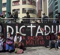 Seguidores de Evo Morales durante una manifestación en La Paz. Foto: AFP
