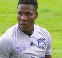 Daniel Angulo, delantero 'azul'.