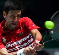 Novak Djokovic logró el segundo punto para el equipo europeo. Foto: GABRIEL BOUYS / AFP