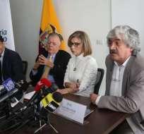 QUITO, Ecuador.- Juan Carlos Solines, Xavier Zavala Egas, Sybel Martínez y Juan Cueva. Foto: API