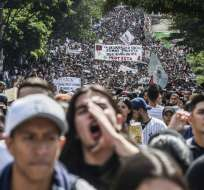 Las protestas dejaron 98 capturados, según el balance oficial. Foto: AFP