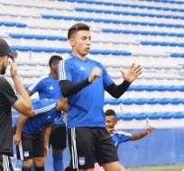 Joao Rojas en una práctica de Emelec. Foto: Twitter Emelec.