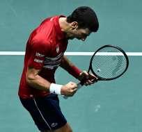 El ganador de estos cuartos de final se definirá en el partido de dobles. Foto: OSCAR DEL POZO / AFP
