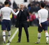 Los 'Spurs' vencieron 3-2 al West Ham United en el derbi londinense. Foto: ADRIAN DENNIS / AFP