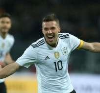 El delantero alemán publicó en su cuenta Twitter que quiere que gane el equipo brasileño. Foto: Archivo/AFP