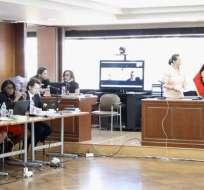 Un momento de la audiencia preparatoria de juicio dentro del caso Sobornos. Foto: Fiscalía