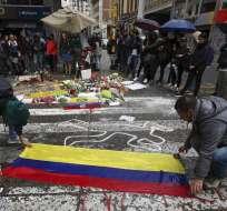 Una escena de las protestas en Bogotá, Colombia, el 26 de noviembre del 2019.  Foto: AP
