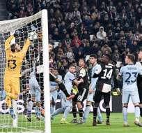 Momento del gol de la Dybala para la Juventus. Foto: Twitter Juventus.