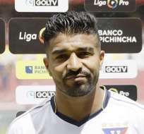 Rodrigo Aguirre, delantero de Liga de Quito. Foto: API.