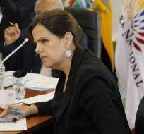 La ministra de Gobierno María Paula Romo (foto) comparecerá ante la Comisión de Fiscalización el lunes. Archivo API