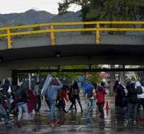 En el séptimo día de protestas se llamó a la paralización a nivel nacional. Foto: Raul ARBOLEDA / AFP