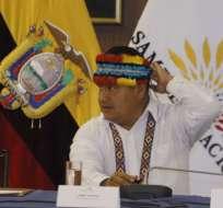 Presidente de la Conaie, Jaime Vargas, no acudió a la Fiscalía. Foto: API - Archivo