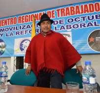 El representante indígena (foto) es uno de los denunciados por Marcelo Hallo. Foto: API