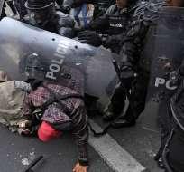ONU: hubo uso desproporcionado de fuerza en Ecuador. Foto: AFP - Archivo