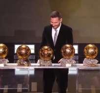 Lionel Messi es el máximo ganador del Balón de Oro con 6.