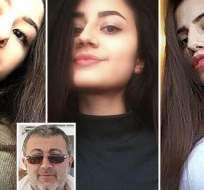 El caso de las hermanas Jachaturian -Krestina, Angelina y María- conmocionó a Rusia en julio de 2018.