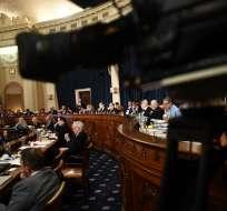 Audiencia ante el Comité Judicial de la Cámara Baja que trata el proceso para juicio político a Trump. Foto: AFP