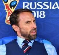 Gareth Southgate, entrenador inglés.