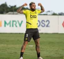Gabriel Barbosa, jugador de Flamengo de Brasil.