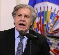 Almagro, de 56 años, asumió como secretario general de la OEA en mayo de 2015. Foto: AFP
