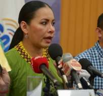 Diana Atamaint, presidenta del Consejo Nacional Electoral (CNE). Foto: API