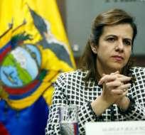 Desde noviembre, María Paula Romo enfrentaba un proceso de juicio político. Foto: API