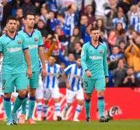El FC Barcelona llegó a 35 puntos luego del empate con la Real Sociedad. El Real Madrid es segundo con 34 y un partido menos.