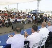Entre de créditos en Manta y Portoviejo. Foto: Presidencia