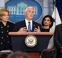 Mike Pence hizo el anuncio en una rueda de prensa. Foto: MANDEL NGAN / AFP