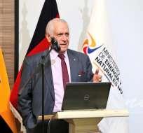 El ministro de Energía y Recursos Naturales no Renovables, René Ortiz, en una imagen de archivo. Foto: Min. Energía