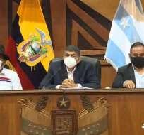46 representantes de Municipios del país se reunieron en la Prefectura del Guayas. Foto: Captura de video