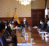 QUITO.- El presidente Moreno mantuvo una reunión con delegados de los municipios. Foto: Secretaría de Comunicación.