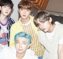 El grupo surcoreano BTS. Foto: IG