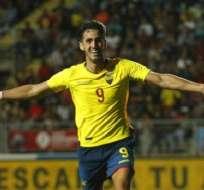 Leonardo Campana, autor del gol de la victoria para Ecuador. Foto: Twitter Conmebol