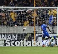 Enner Valencia al marcar la noche de este miércoles.