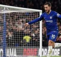 Hazard celebra uno de sus goles.