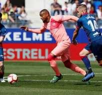Partido entre Huesca y el FC Barcelona.