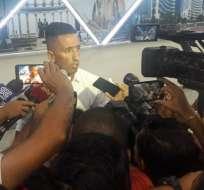 Jugador de Huracán en declaraciones a los medios ecuatorianos.