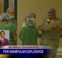 28 casos de niños con quemaduras se registraton en el Hospital Roberto Gilbert