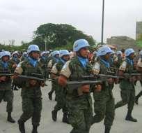 Cascos azules ecuatorianos viajarán a Haití