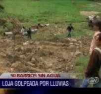 Lluvias causan estragos en la provincia de Loja