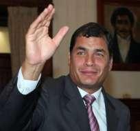 Correa habla de candidatura y veto en elecciones