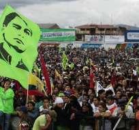 Una multitud celebró junto a Correa en Cuenca